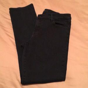 Black J-Brand Cigarette Leg Jeans